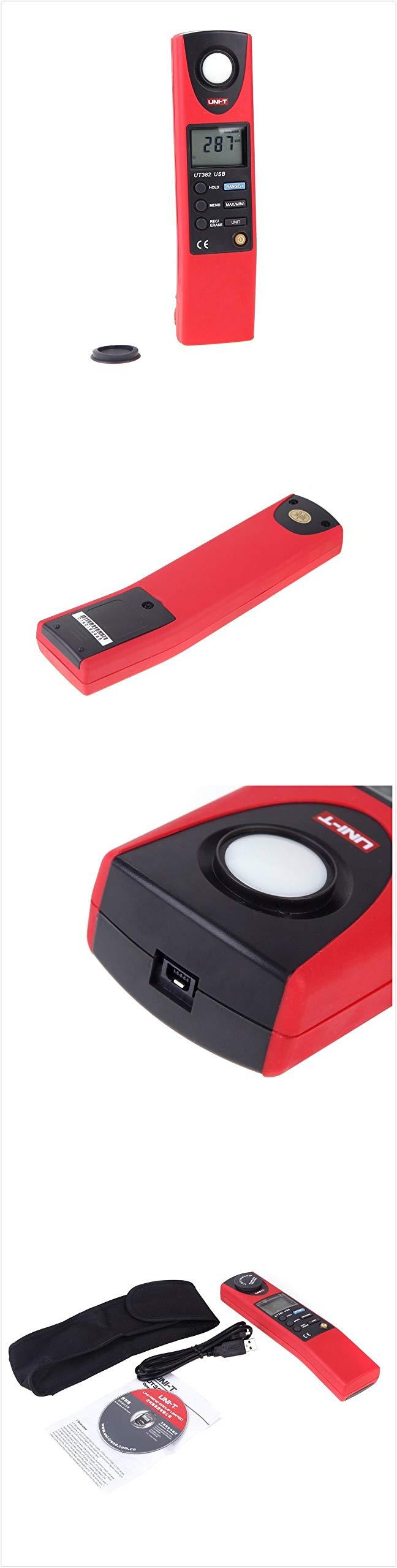 UT382 Split Light Lux Meter Meters 20-20000 Lux Digital Illuminometer USB Transfer