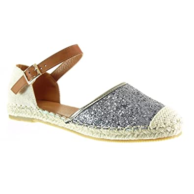 Angkorly Damen Schuhe Espadrilles Sandalen Mary Jane Offen