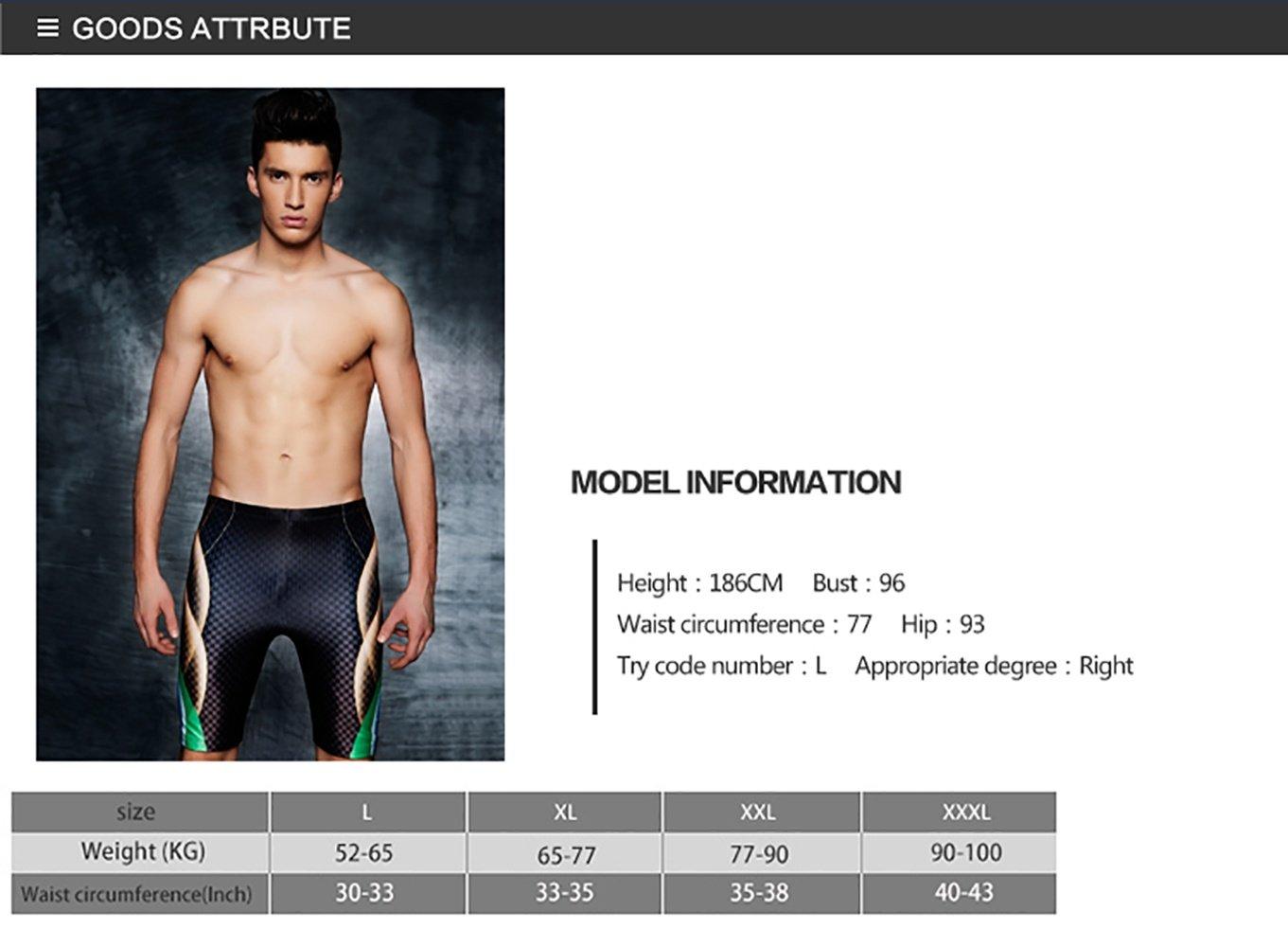 feede3a58e10 YNGK Hombre Bañadores de Natación Pantalones Cortos Baño Bóxers ...