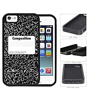 Composition Notebook 2-Piece Dual Layer High Impact Rubber Silicone Cell Phone Case Apple iPhone 5 5s