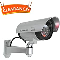 JOOAN CCTV Security Fake/Dummy Camera Outdoor Bullet Camera with 1 Flashing Light