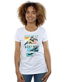 95590320d Justice League Women's T-Shirt Aquaman DC Comics by Elbenwald White ...