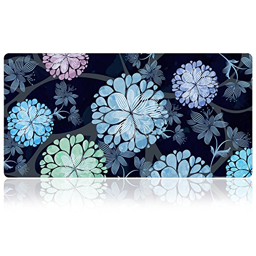 Extra Large Mouse Pad - Flower Design Gaming or Desk Mouse pad - 31.5'' x 15.7''x0.12''(3mm Thick)- XXL Protective Mouse Keyboard Desk Mat for Computer/Laptop(Dandelion) by SANFORIN