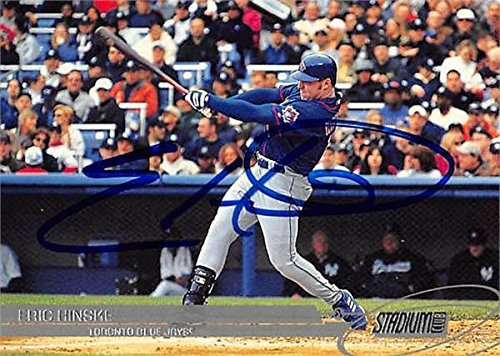 Eric Hinske autographed Baseball Card (Toronto Blue Jays, FT) 2002 Topps Stadium Club #8 - Baseball Slabbed Autographed Cards