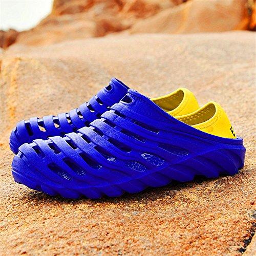 Infradito Da Uomo Sandali Esterni Traspiranti Scarpe Da Spiaggia Estate Buco Scarpe Da Acqua Per Uomo Blu