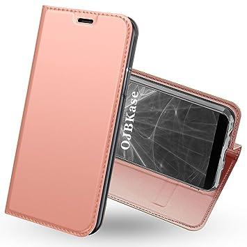 Funda OnePlus 5T,OJBKase Premium piel sintética Libro ...