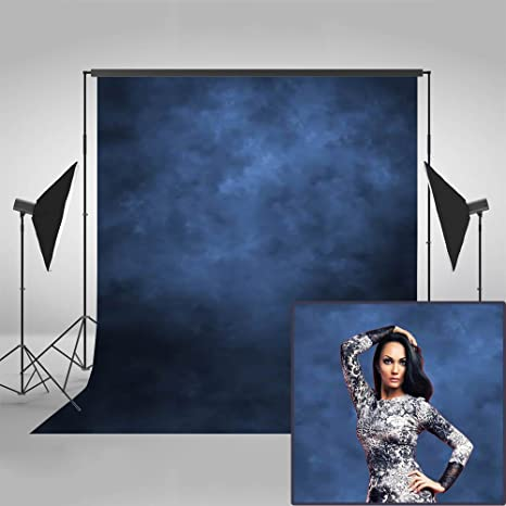 Mehofoto Dark Blue Abstract Backdrop Solid Color Texture Personalized  Portrait Background for Photographer 5x7ft Vinyl Vintage Retro Photography