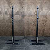 Ultra Portable Econ 2-Piece Independent Squat Rack / Bench Press, Squat Rack for Crossfit + Strength Training