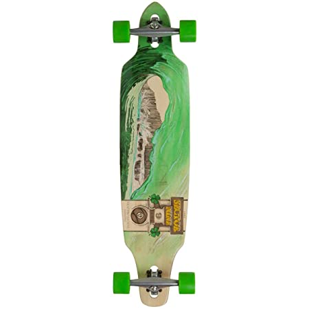 Sector 9 Drop-Thru Bamboo Lookout II Green Wave Complete Downhill Longboard
