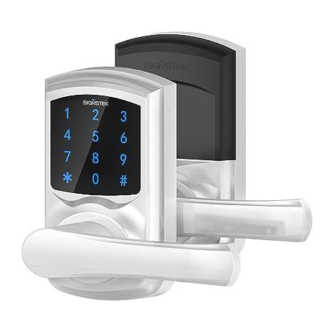 Signstek – sin llave cerradura para puerta de pantalla táctil Teclado Electrónico de palanca con cerradura