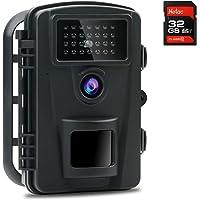 Coolife Caméra de Chasse, Caméra de Jeu Nocturne Vitesse de Déclenchement 0.2s et 27 Infrarouges LED de 940nm, 12MP 1080P HD Camera de Chasse Nocturne IP66 Étanche à l'eau et à la Poussière