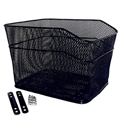 Bicycle Back Basket, YIFAN Storage Bike Cargo Rack Cycling Mountain Road Bike MTB Accessories - Black