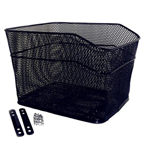 Bicycle Back Basket, YIFAN Storage Bike Cargo Rack Cycling Mountain Road Bike MTB Accessories – Black