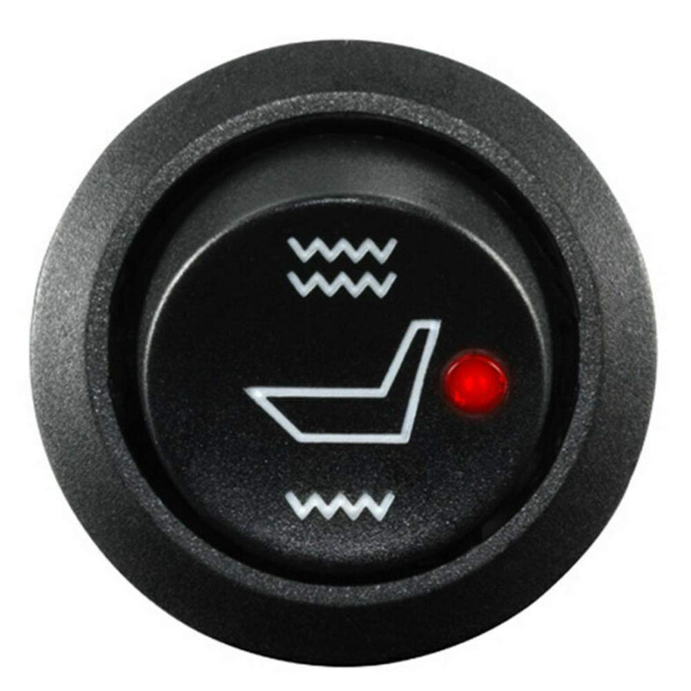 Karbonfaser-Heizelement szdc88 Universal-Motorrad Sitzheizung,Motorrad Sitzheizung aus Carbon Heizdecke,runder Chrom-Schalter
