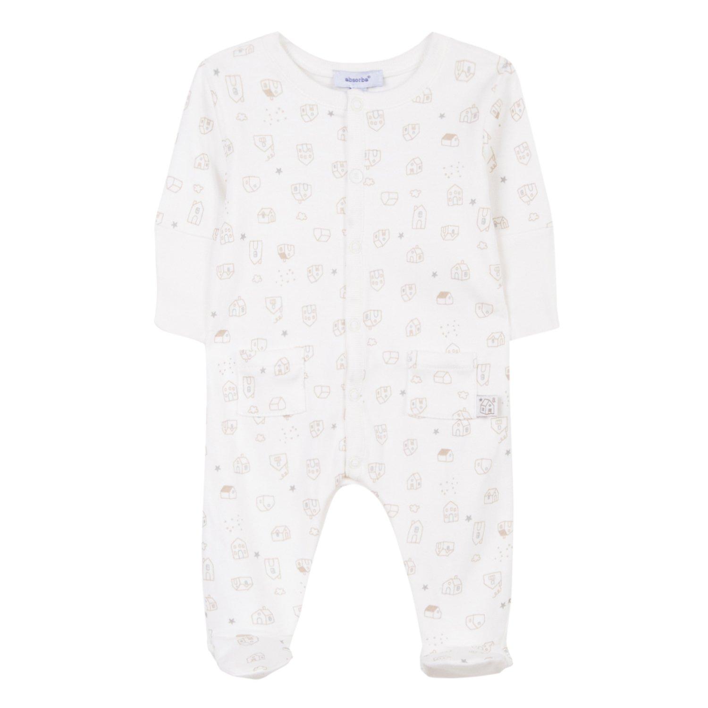 Absorba Boutique Pyjamas Ecru, Pigiama Unisex-Bimbi