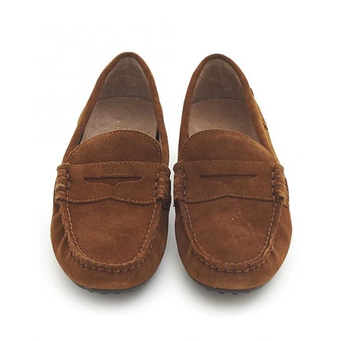 Polo Ralph Lauren - Pantuflas y Mocasines Hombre, Color Marrón, Talla 4: Amazon.es: Zapatos y complementos