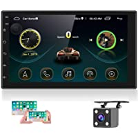 Double Din Android Car Stereo with GPS 7 Inch Touch Screen Car Radio Bluetooth Supports Mirror Link for iOS/Android…