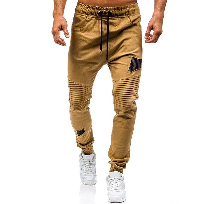 472dea8e4f Pantalones chandals Hombre Amlaiworld Pantalones de Joggers para Hombre  Bolsillos con Cremallera Pantalones Deportivos Chándal de Trabajo Jogging  Niño ...
