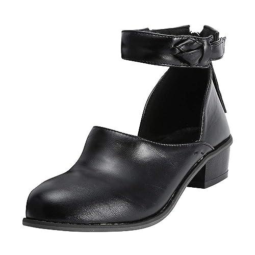 QinMM Mocasines de tacón Medio Casual Mujer Zapatos Mocasines de Vestir: Amazon.es: Zapatos y complementos
