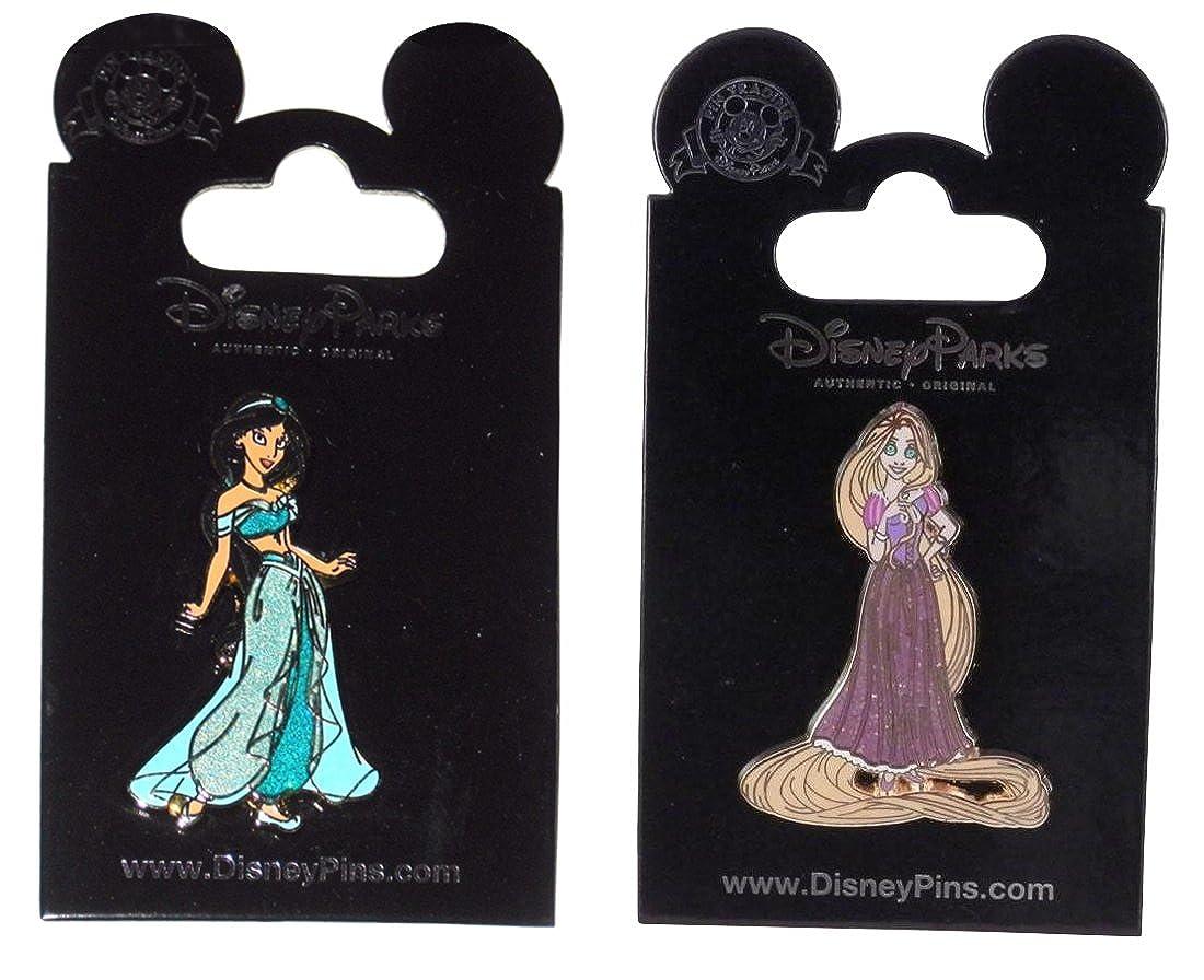 Disney Jasmine and Rapunzel Glitter Pins