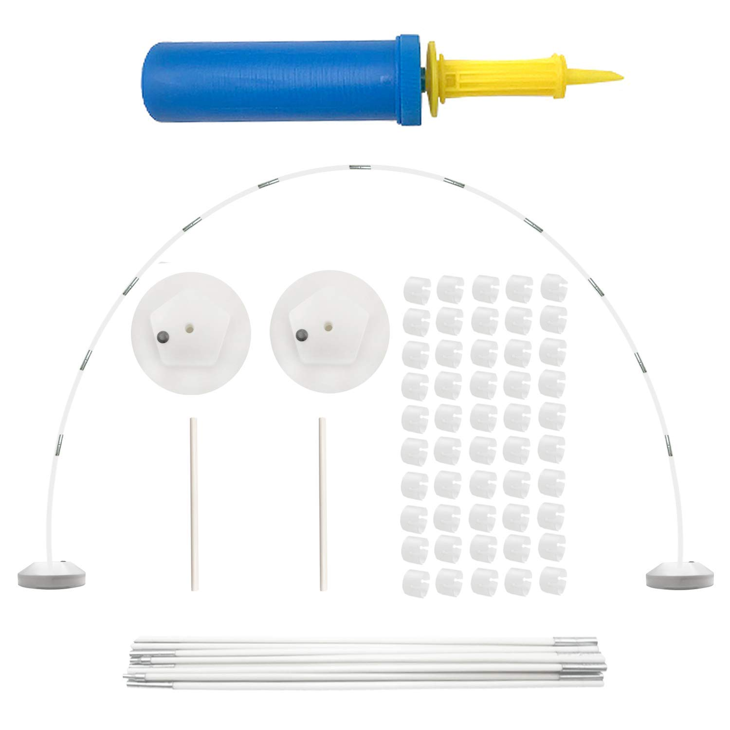 Balloon Arch Kit - Balloon Column Base and Pole Balloon Arch with Bases for Birthday Party Supplies Garden Decorations or Wedding(9.5FT Tall & 17FT Wide)