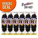 (US) FreeTress Synthetic Hair Crochet Braids GoGo Curl 12