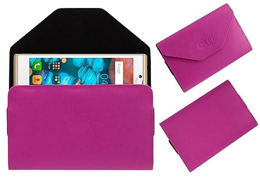 Acm Pouch Case Compatible with Panasonic P66 Mega Flip Flap Cover Holder Pink Cases   Covers