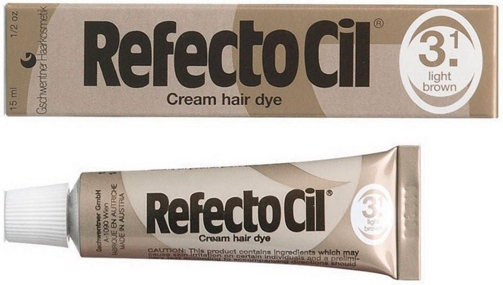 RefectoCil 3.1 – Crema de color marrón claro para el cabello ...