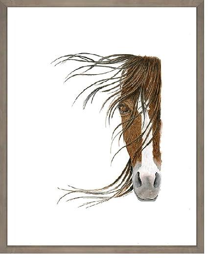 Amazon.com : Brown Horse Portrait Rustic Drift Framed Art, 17\
