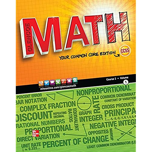 7th grade textbooks amazon glencoe math course 2 vol 1 your common core edition student edition math applic conn crse fandeluxe Images