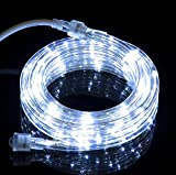 Izzy Creation 10.6FT Cool White LED Flexible Rope Lights Kit, Indoor/Outdoor Lighting, 3/8'', Home, Garden, Patio, Shop Windows, Christmas, New Year, Wedding, Party, Event