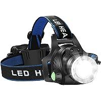 Headlamp Flashlight, USB Rechargeable Led Head Lamp, IPX4 Waterproof T004 Headlight with 4 Modes and Adjustable Headband…