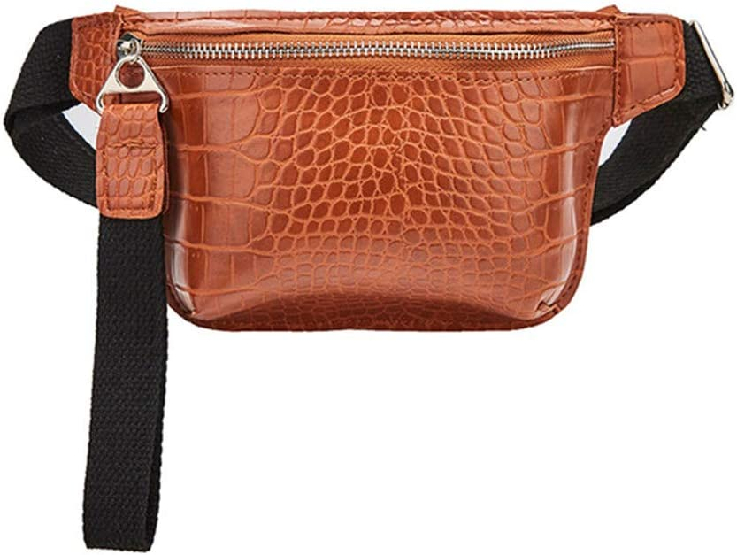 DONG Belt bagWaist Bag for Women Chest Bag PU Leather Fanny Pack Phone Pouch Chest Packs Ladies Wide Strap Belt Bag Female Crossbody Bag Orange: Amazon.es: Equipaje