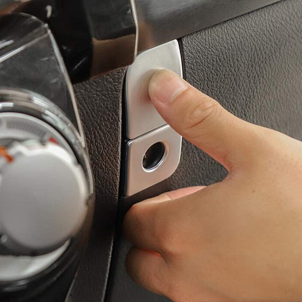 GZXinWei Red Copilot Storage Glove Box Handle Switch Cover Trim