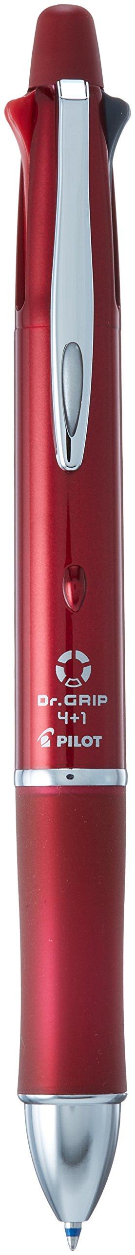 Pilot Dr. Grip 4+1, 4 Color 0.7 mm Ballpoint Multi Pen & 0.5 mm Mechanical Pencil - Bordeaux Body (BKHDF1SFN-BO)