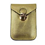 Universal PU Leather Cellphone Bag Pouch for iphone 5 5S,Samsung Galaxy Note 2 ,Galaxy S3 , S4 / Htc One / Motorola / Nokia Lumia (Gold)