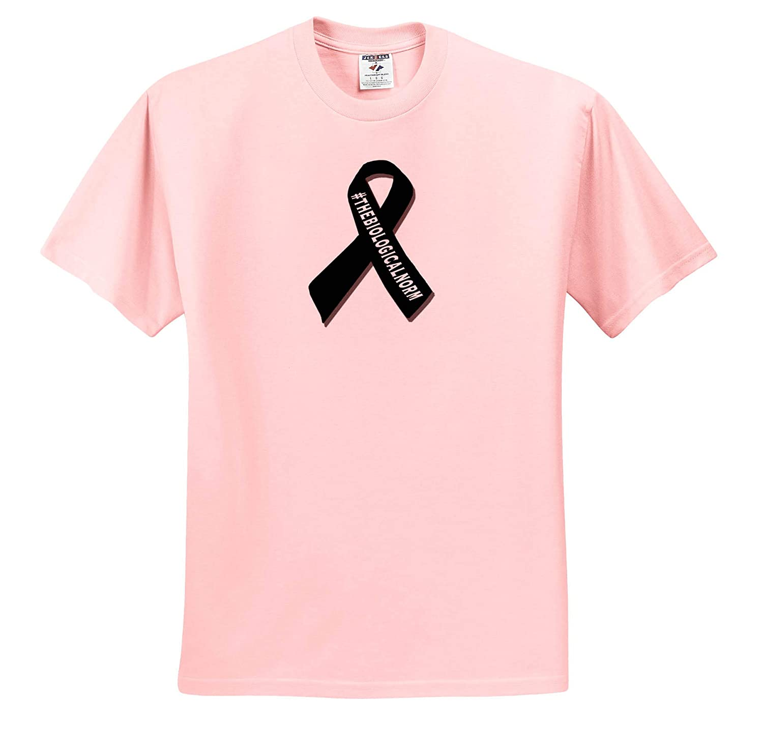 3dRose Made in The Highlands-Vector T-Shirts The Biological norm Printed Breastfeeding Support Ribbon