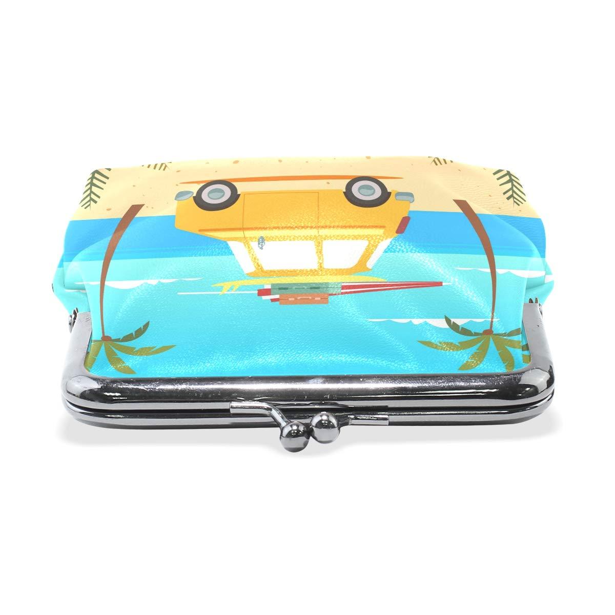LALATOP Yellow Car Womens Coin Pouch Purse wallet Card Holder Clutch Handbag