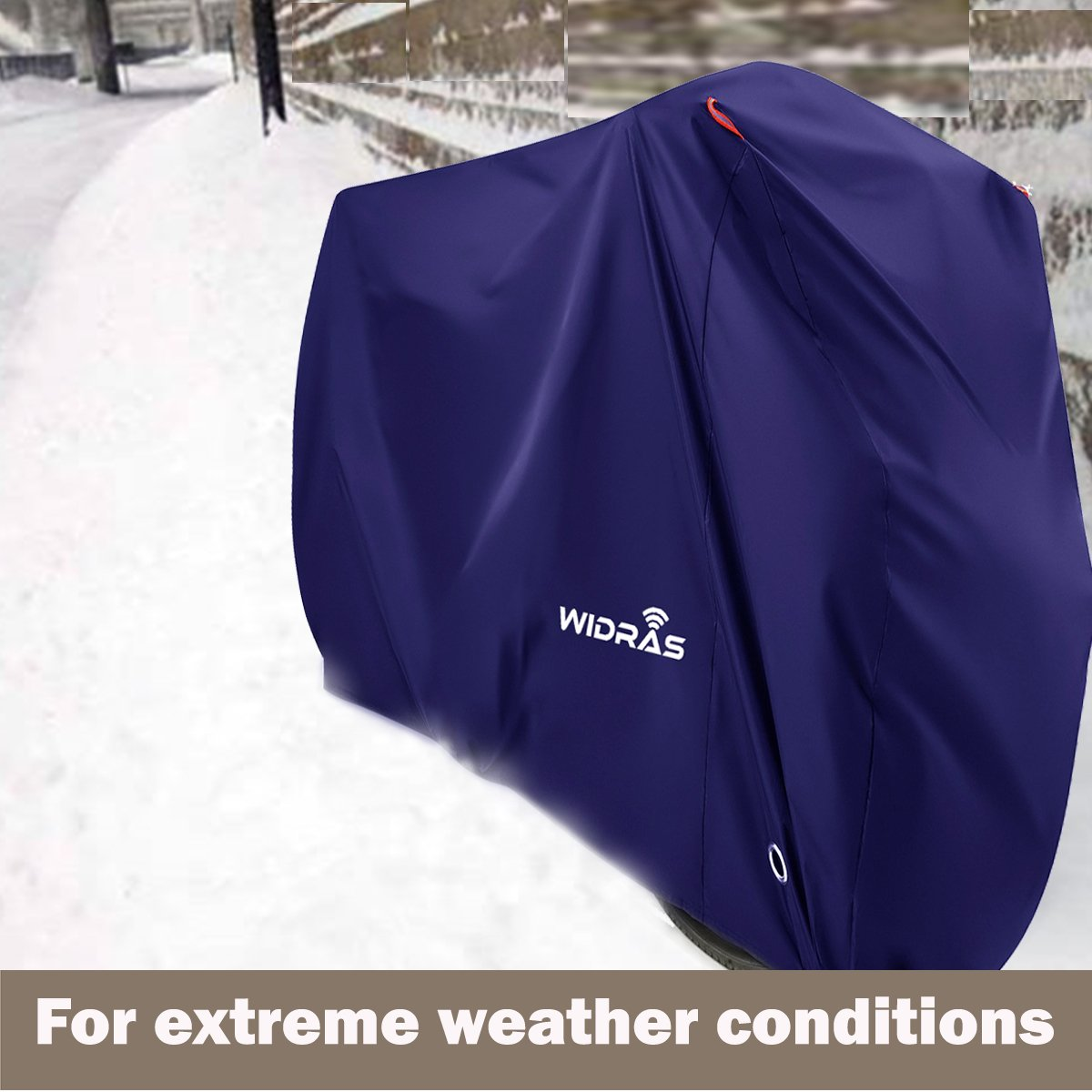 Widras Bicycle and Motorcycle Cover for Outdoor Storage Bike Heavy Duty Rip stop Material, Waterproof & Anti-UV Protection from All Weather Conditions for Mountain & Road Bikes by Widras (Image #8)