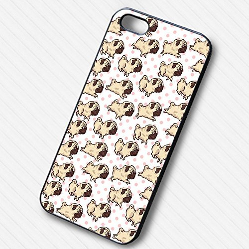 Pug Collage Pink Polkadot pour Coque Iphone 6 et Coque Iphone 6s Case F8M6BZ