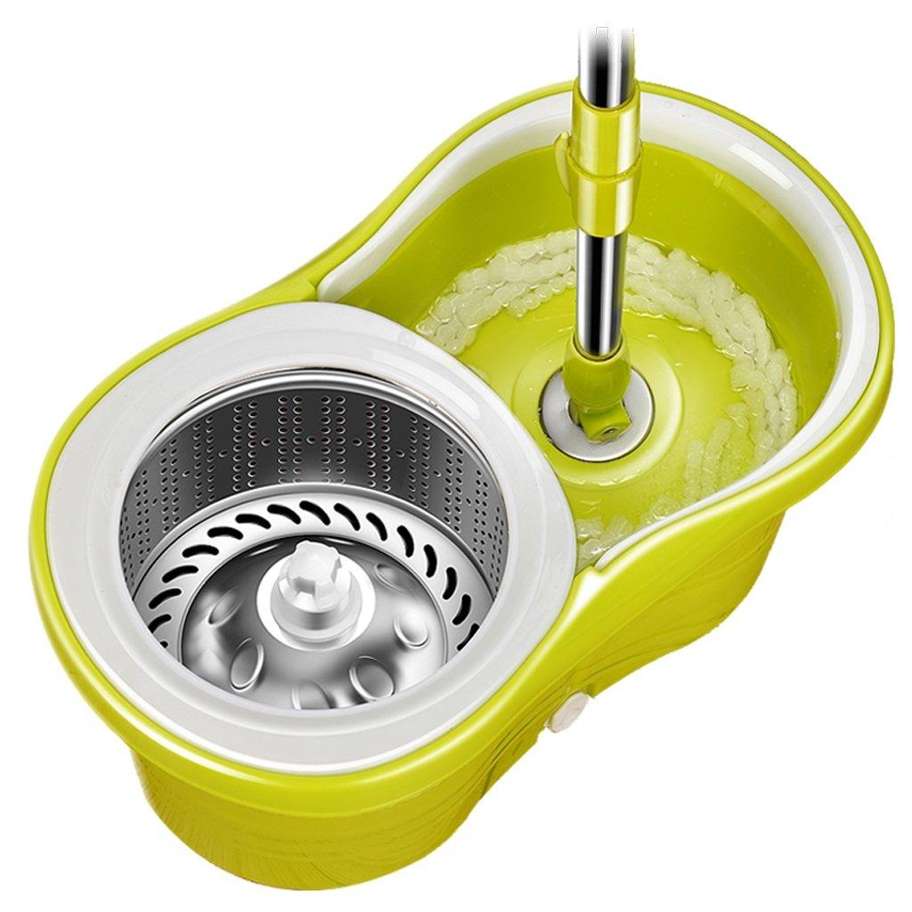 ハンドフリー洗浄ロータリーモップバケツ吸湿モップフルーツグリーン (サイズ さいず : Mop head 3) B07FTBT1RK  Mop head 3