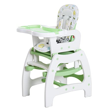 d6946e740901 HOMCOM 3 in 1 Baby Highchair Convertible Chair and Seat + Table with ...