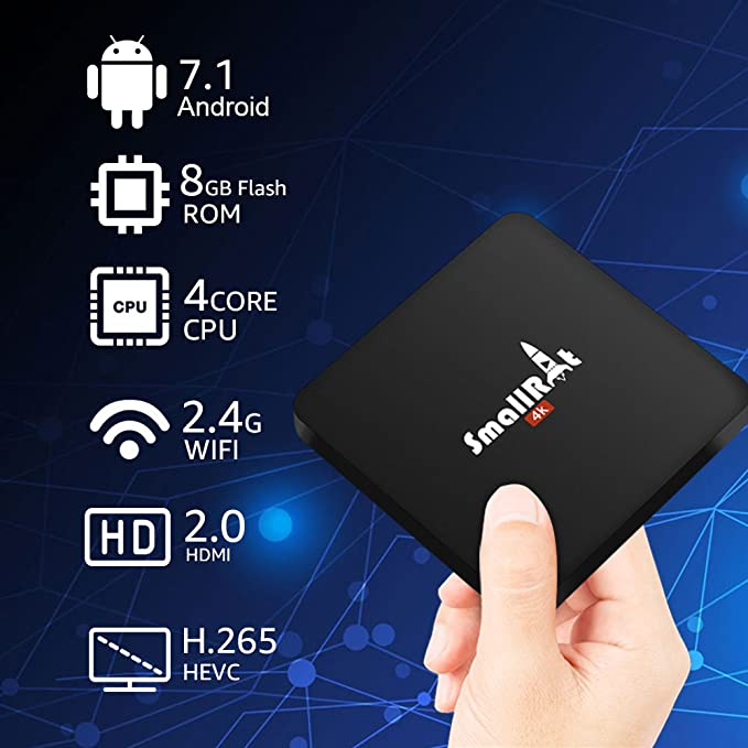 Android TV Box 7.1, smallrt X2 4 K HD Smart TV Box Apoyo Wifi Quad ...