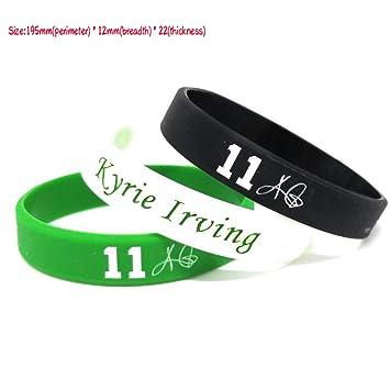 FANwenfeng NBA Baloncesto Kyrie Irving Pulsera de Silicona de la Firma Estudiante Sport Wristband (Mezcla (Paquete de 3)): Amazon.es: Deportes y aire libre