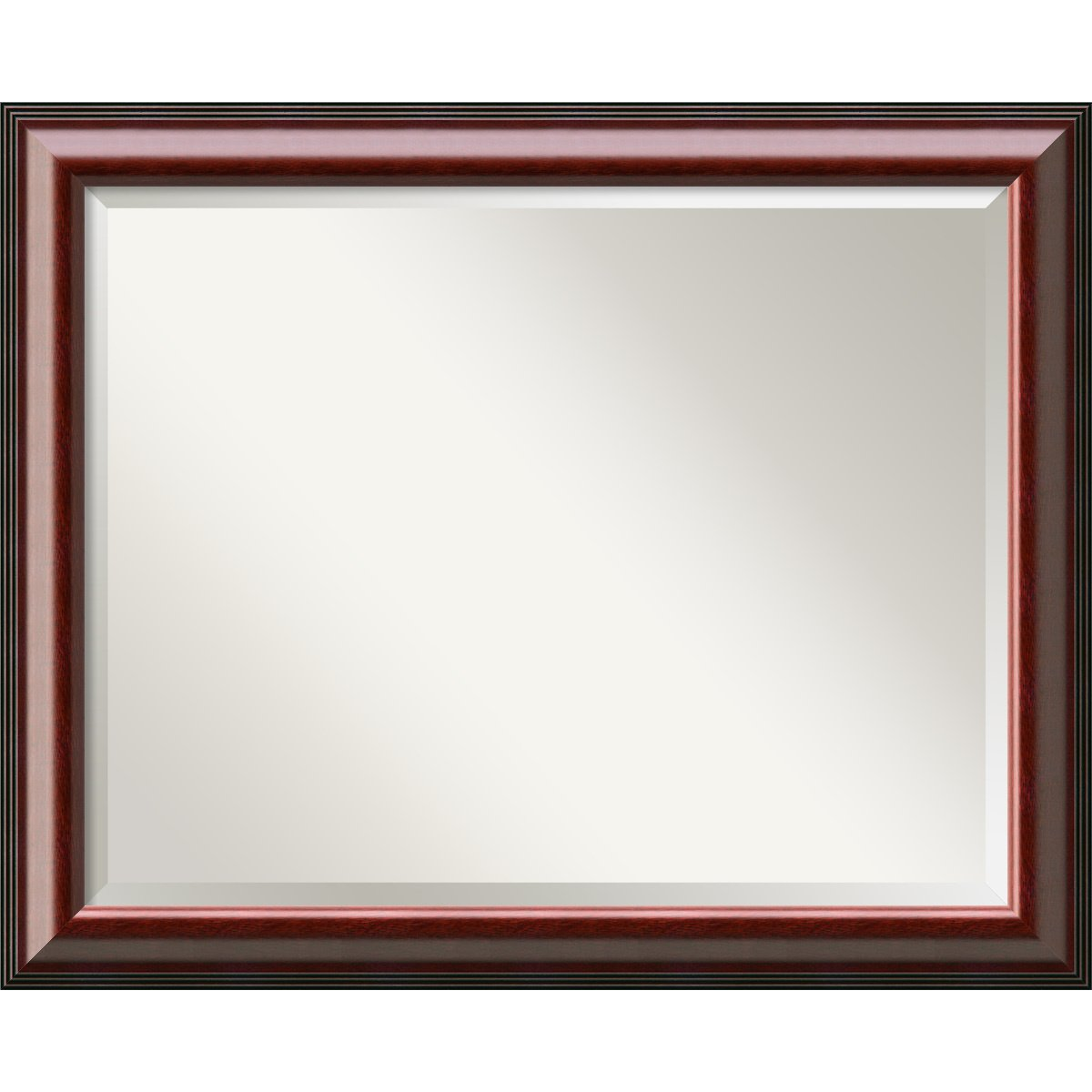 Brown Large-33 x 27  Wall Mirror Large, Cyprus Walnut Wood  Outer Size 33 x 27