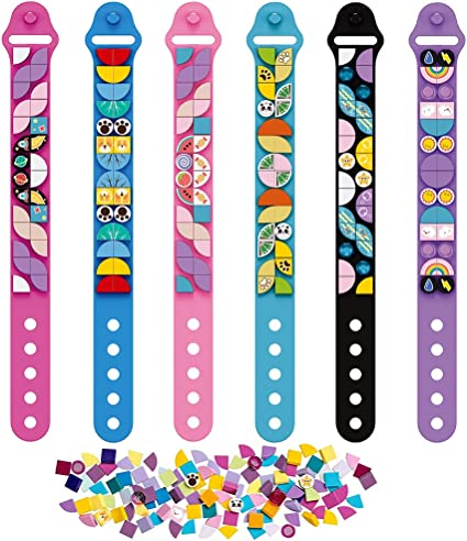 Custom Friendship Wristband Make a Great Birthday or New Year Gift,Spend blursday Cool DIY Creative Sports Bracelet Making Kits for Girls and Boys 2021 New DOTS Kids Jewelry Craft Bracelet 6 Packs