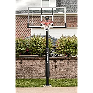 "Silverback 60"" In-Ground Basketball System with Tempered Glass Backboard"
