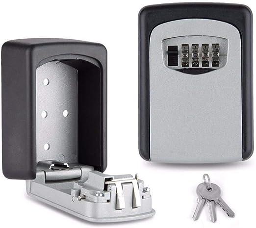 OurLeeme Key Safe Lock Box, Caja de combinación de 4 dígitos para Caja de Bloqueo de