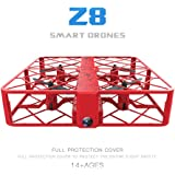 DingLong Outdoor Z8 RC Mini Drone 0.3MP Wifi 2.4G 6AXIS Höhe Halten UFO Quadrocopter Pocket Drone (Red)