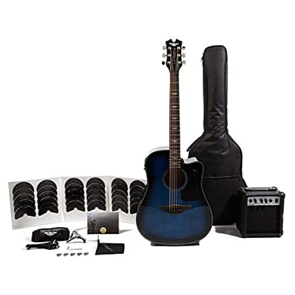 Keith Urban guitarra electroacústica – Cuerda de resistencia juego (zurdos), color azul eléctrico